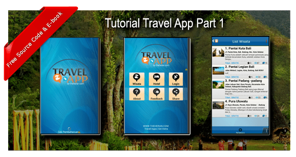 "TUTORIAL MEMBUAT APLIKASI WISATA ""TRAVEL APPS PART 1"""